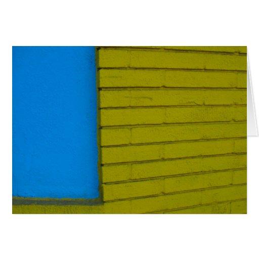Blue Yellow Card