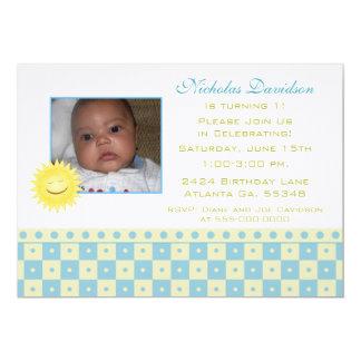 Blue & Yellow Checks: Sunshine : Party Invitations