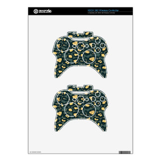 Blue Yellow Cheetah Faded Xbox 360 Controller Decal
