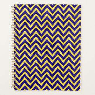 Blue Yellow Chevron Stripe Zig Zag Planner