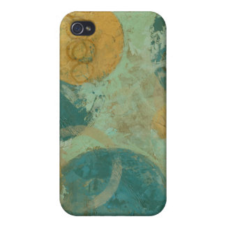 Blue & Yellow Circles iPhone 4 Cases