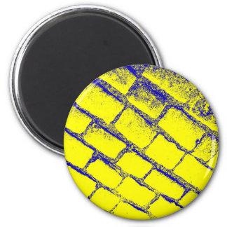 Blue Yellow Cobbles Magnet