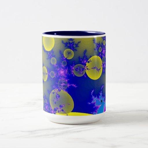 Blue yellow design mug zazzle for Blue mug designs