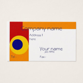 Blue Yellow Dots Business Card