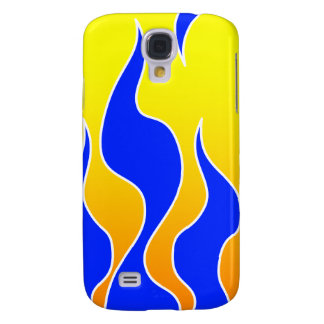 Blue/Yellow Flame iPhone 3G Case