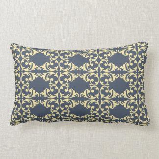 Blue-Yellow Florish Lumbar Pillow