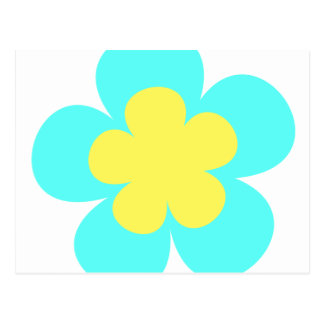 Blue & Yellow Flower Postcard