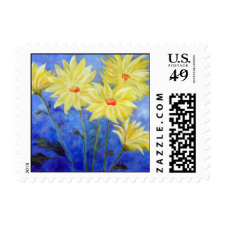 Blue_Yellow Flowers Postage