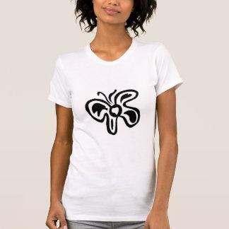 Blue & Yellow Flutterfly B&W Doodle T-Shirt