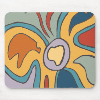 Blue & Yellow Flutterfly Mouse Pad