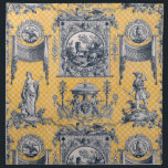 "Blue &amp; Yellow French Neoclassical Toile Napkins<br><div class=""desc"">Featuring a French Neoclassical toile print w mythological figures in yellow,  white and blue.</div>"