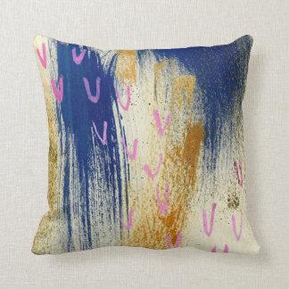 Blue Yellow Gliter Modern Throw Cushion Throw Pillow