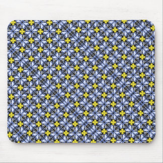 Blue yellow Great Danes Mouse Pad