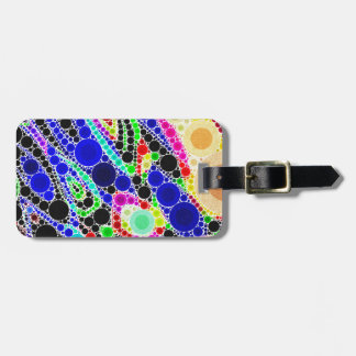 Blue Yellow Green Abstract Luggage Tag