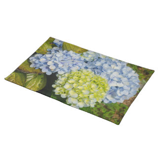 Blue Yellow Hydrangea placemats