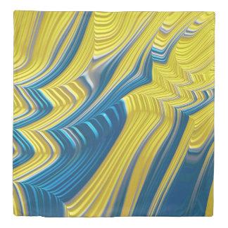Blue Yellow Landscape Fine Fractal Art Duvet Cover