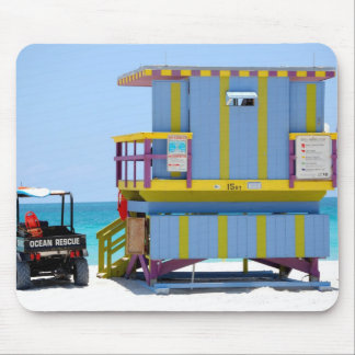 blue yellow lifeguard stand mouse pad