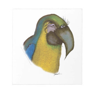 blue yellow macaw, tony fernandes notepad