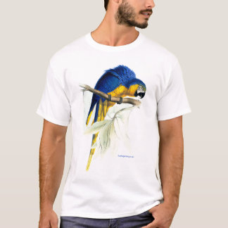 Blue & Yellow Maccaw (Parrot) image by Edward Lear T-Shirt