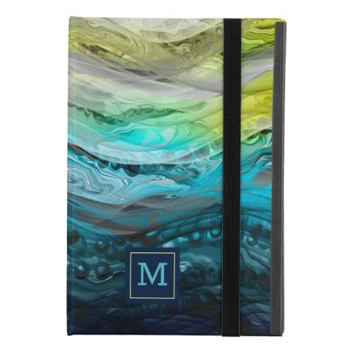 Blue yellow marbling waves Case-Mate iPhone case