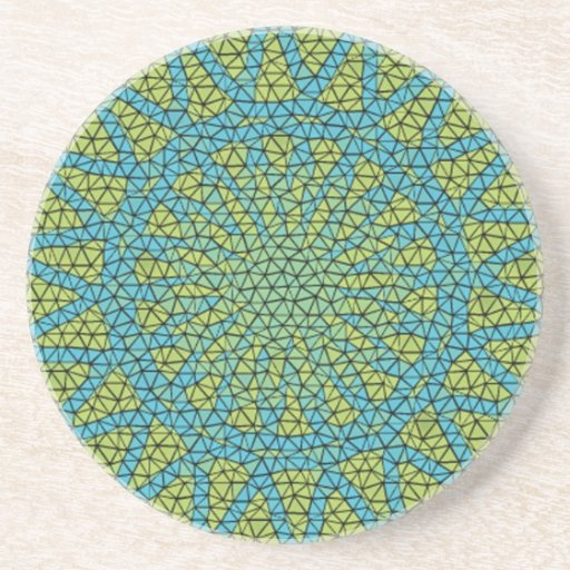 Blue yellow moasic drink coasters
