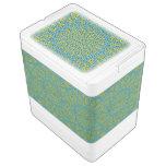 Blue yellow moasic igloo ice chest