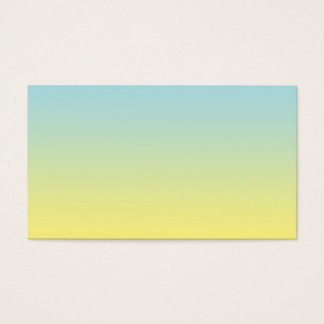 Blue & Yellow Ombre Business Card