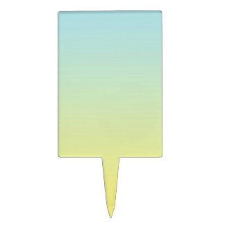 Blue & Yellow Ombre Cake Topper