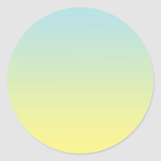 Blue & Yellow Ombre Classic Round Sticker