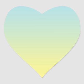 Blue & Yellow Ombre Heart Sticker