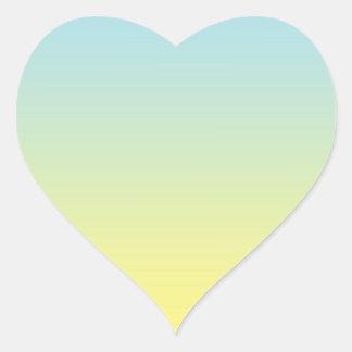 Blue & Yellow Ombre Heart Sticker