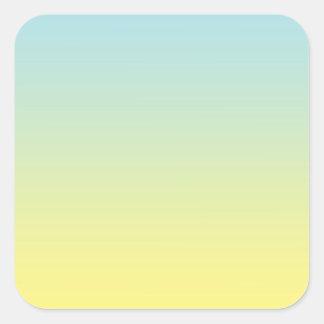 Blue & Yellow Ombre Square Sticker