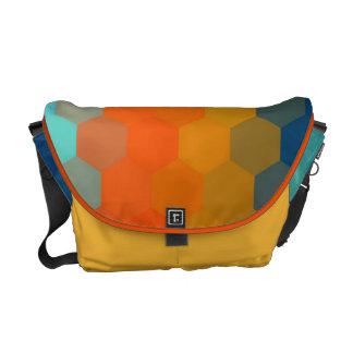 Blue Yellow Orange Hexagon Seamless Pattern Messenger Bag
