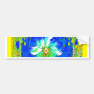 Blue & Yellow Pansy Flower Gifts by Sharles Bumper Stickers