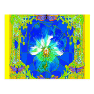 Blue & Yellow Pansy Flower Gifts by Sharles Postcard