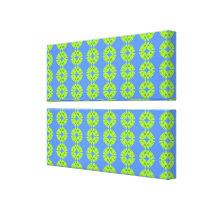 blue yellow pattern canvas print