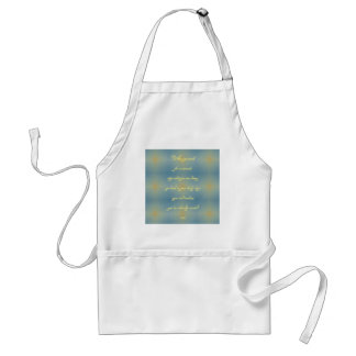 "Blue Yellow Pattern ""Created A Miracle"" Baby Boy Adult Apron"
