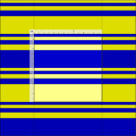[ Thumbnail: Blue & Yellow Pattern of Stripes Fabric ]