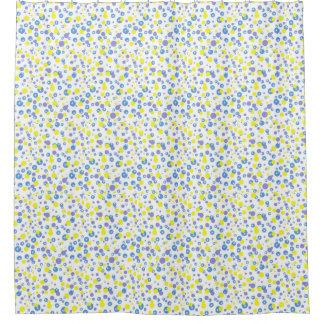 Blue And Yellow Shower Curtains Zazzle
