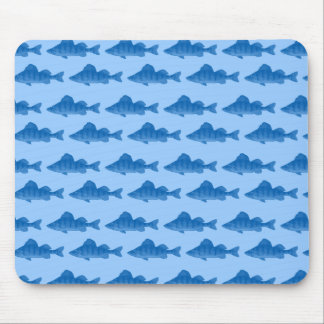 Blue Yellow Perch Fish Mouse Pad
