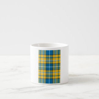 Blue & Yellow Plaid Espresso Cup