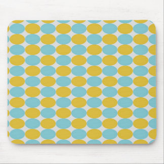 Blue & Yellow Polka Dots Background Mouse Pad