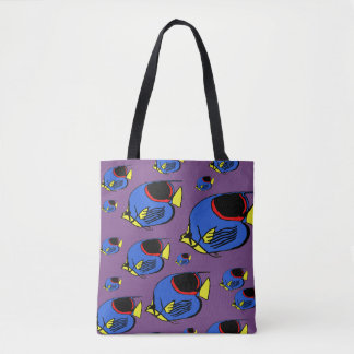 Blue, Yellow & Red Sunfish Tote Bag