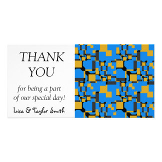 Blue yellow shapes card
