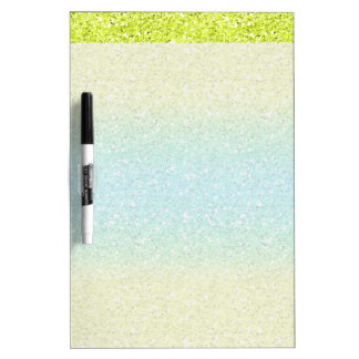 Blue & Yellow Sparkly Bits Dry-Erase Board