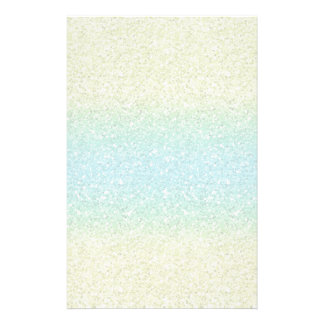 Blue & Yellow Sparkly Bits Stationery