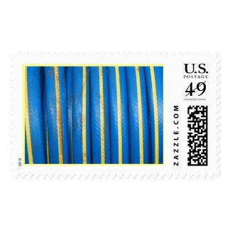Blue Yellow Stripe Postage