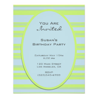 blue yellow striped party full color flyer