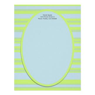 blue yellow stripes letterhead
