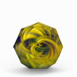 Blue & Yellow Swirls Acrylic Award